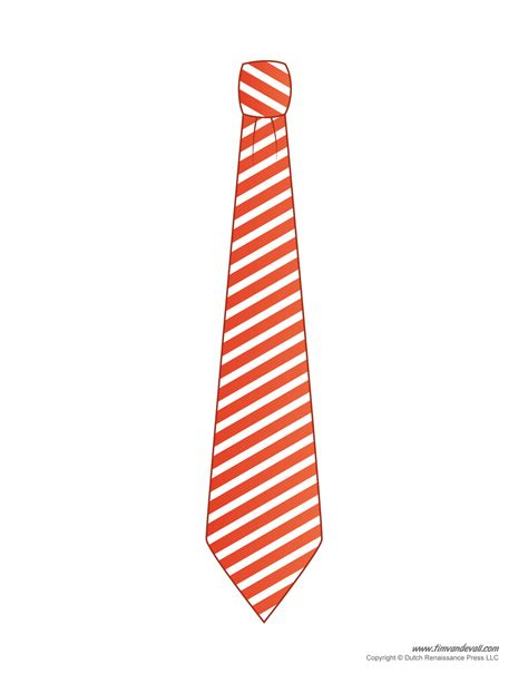 paper tie templates for kids