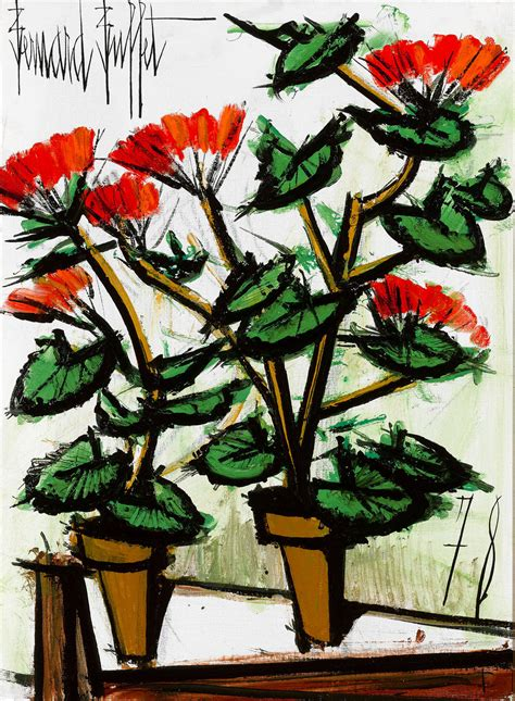 bernard buffet paintings bernard buffet geraniums painting at 1stdibs