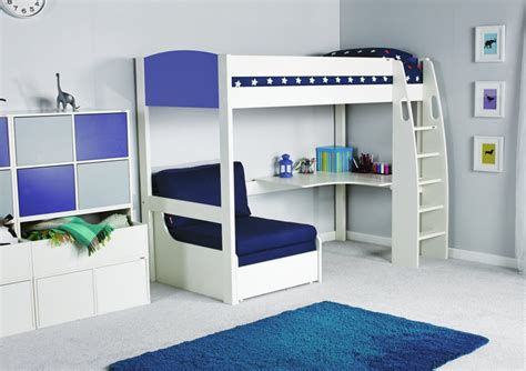 childrens bunk beds with sofa stompa unos high sleeper frame with desk and chair bed