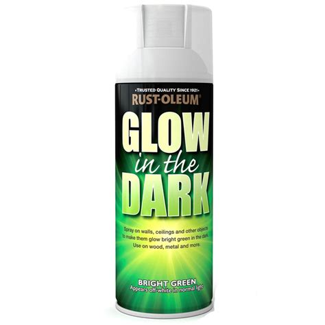 glow in the paint safety rust oleum glow in the bright green spray paint