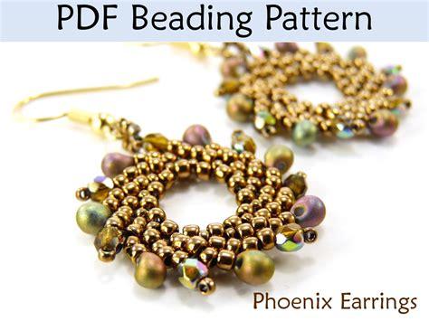 beading pdf earrings beading tutorial st petersburg sitch simple