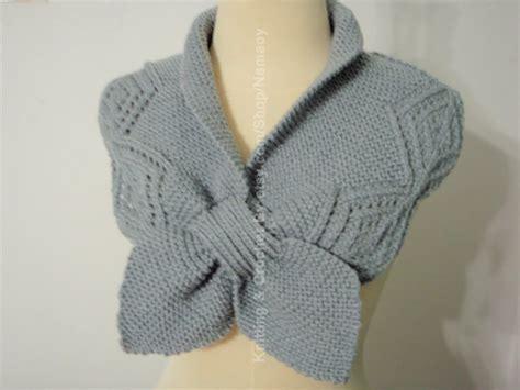 knit warmers myknittingdaily knitting grey neck warmer