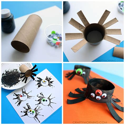 spider crafts for two toilet paper roll spider crafts for crafty morning