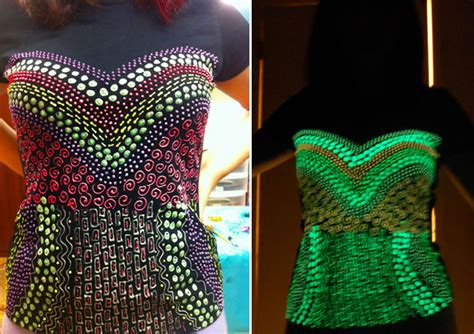 glow in the paint shirt how to glow in the corset t shirt make handmade