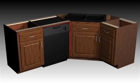 kitchen sink cabinets designing a corner sink cabinet
