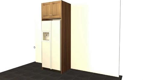 Remove Kitchen Cabinets create a standard ge refrigerator enclosure using barker