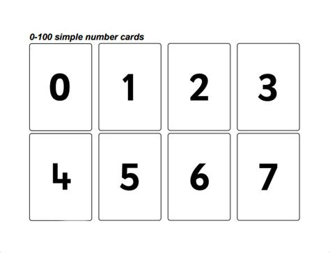 number templates for card sle number 9 documents in pdf word