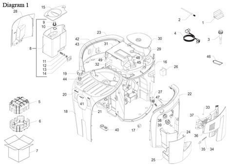 Saeco Odea Go/Giro   Parts Diagram