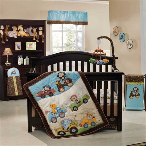 baby boy crib bedding themes baby nursery decor lots of animal dolls decor themes for