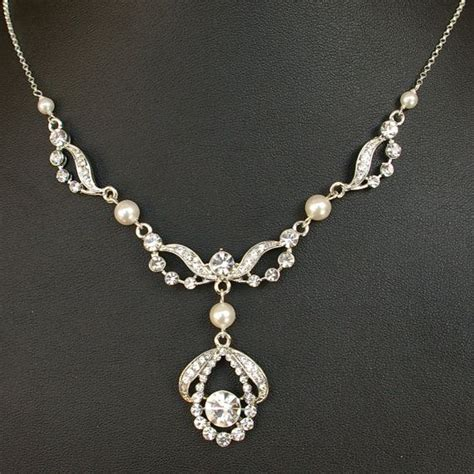 how to make wedding jewelry deco style wedding bridal necklace vintage style