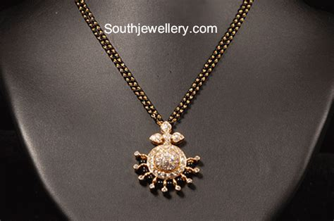black jewellery small chains simple black mangalsutra chains jewellery designs