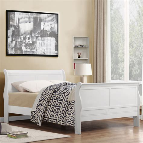 white size bed sleigh beds size product options homesfeed