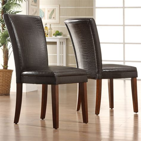 tribecca home dining chairs tribecca home decor faux alligator print dining chair set