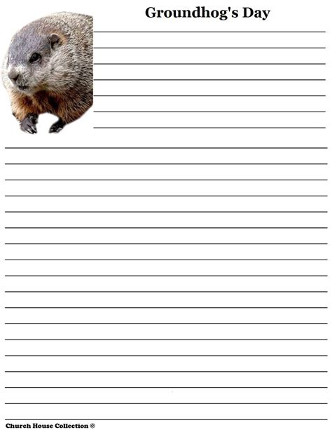 groundhog day used to something groundhog day writing paper for school