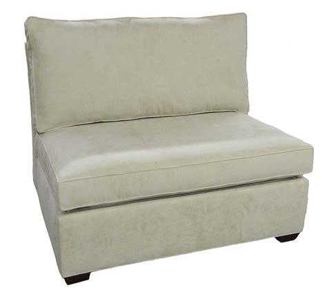 sleeper chair sofa sectional armless single sleeper sofa carolina chair