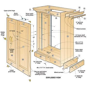kitchen cabinet plans woodworking 3 assorted cabinet plans you can try your on