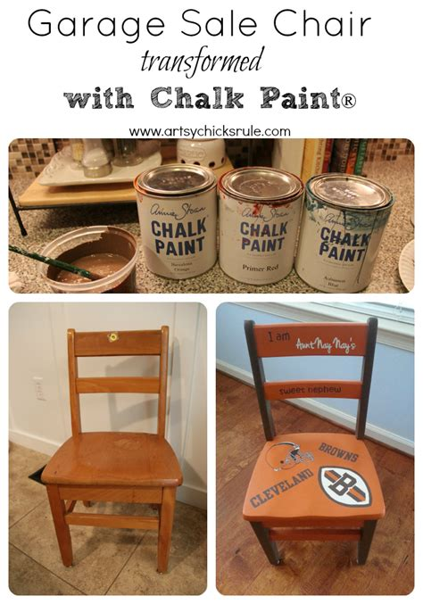 Garage Sale Chair Transformed With Chalk Paint 174 Artsy