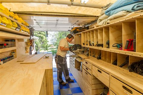 mobile woodworking shop woodshop on wheels paulk on the design of his mobile