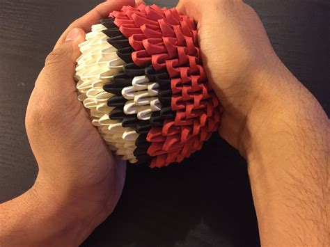 how to make an origami pokeball how to make a 3d origami pok 233 with pictures wikihow