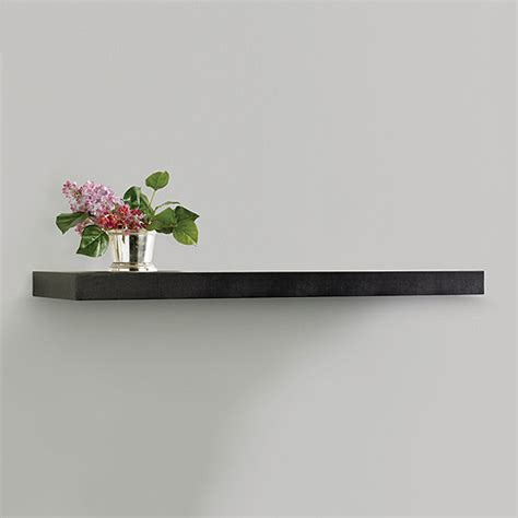 wall shelves at walmart inplace shelving floating wood wall shelf black walmart