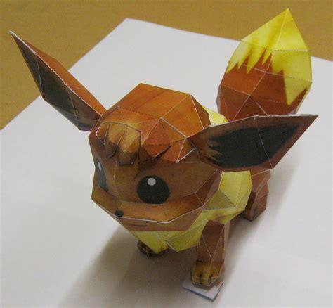 eevee origami eevee paper craft by tbterra on deviantart
