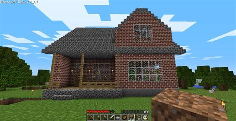 minecraft home design cozy 2 story brick house minecraft house design