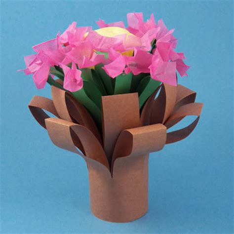 crafts made from construction paper make a simple folded bouquet friday craft projects
