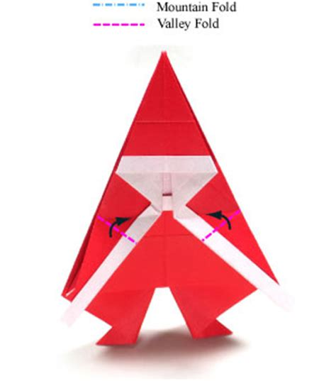 simple origami santa claus how to make a simple origami santa claus page 14