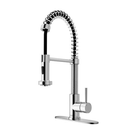 vigo kitchen faucet vigo single handle pull out sprayer kitchen faucet with soap dispenser in stainless steel