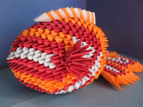 3d fish origami 3d origami koi fish by chiidonuts on deviantart