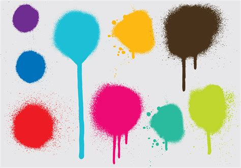 spray paint vector spray paint drip vectors free vector stock