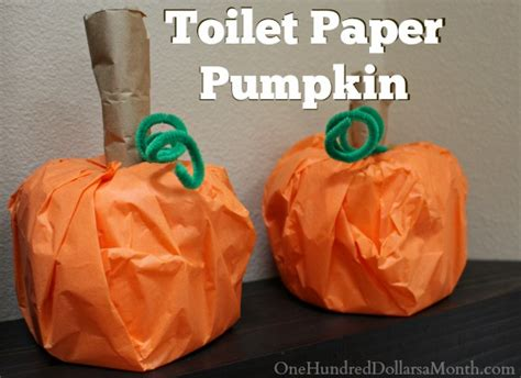 toilet paper pumpkins craft craft toilet paper pumpkin one hundred