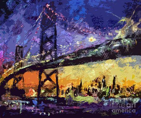 paint nite san francisco abstract san francisco oakland bay bridge at