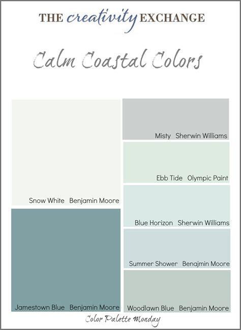 benjamin calm paint calm coastal paint colors color palette monday