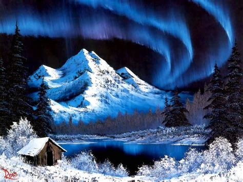 bob ross painting blue moon bob ross paintings landscapes free picture gt bob