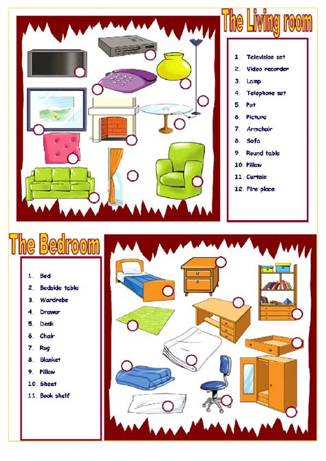 bedroom furniture vocabulary house and furniture bedroom and living room