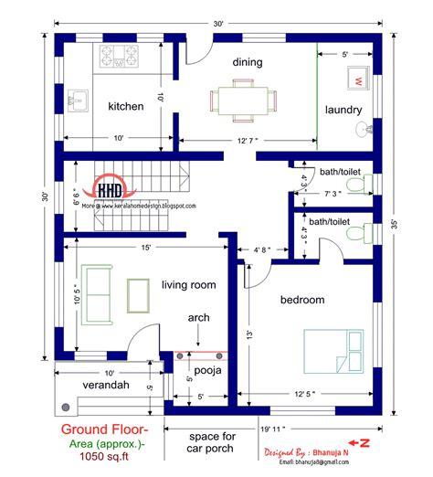 ground floor plan floor plan and elevation of 1925 sq villa house design plans