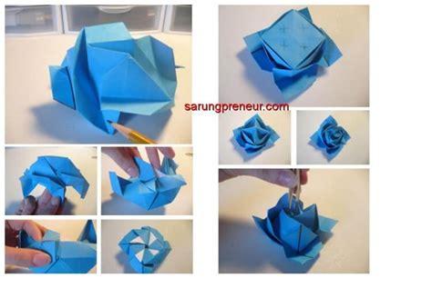 origami mawar cara membuat origami bunga mawar sarungpreneur