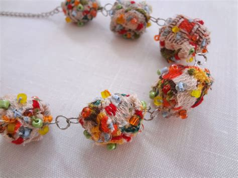 material to make jewelry treasures easy fabric necklaces