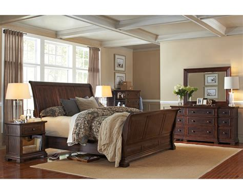 sleigh bedroom furniture sets aspenhome bedroom set w sleigh bed westbrooke asi59 400set