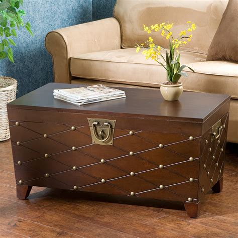 trunk coffee table astoria grand cainhoe nailhead trunk coffee table