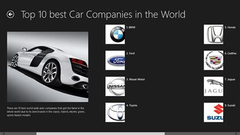 top 10 best car companies for windows 8 and 8 1