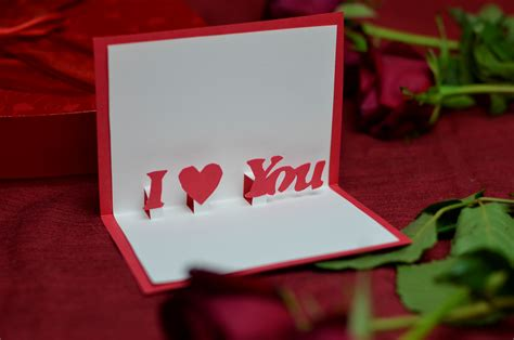 how to make a valentines pop up card s day free pop up card template creative pop
