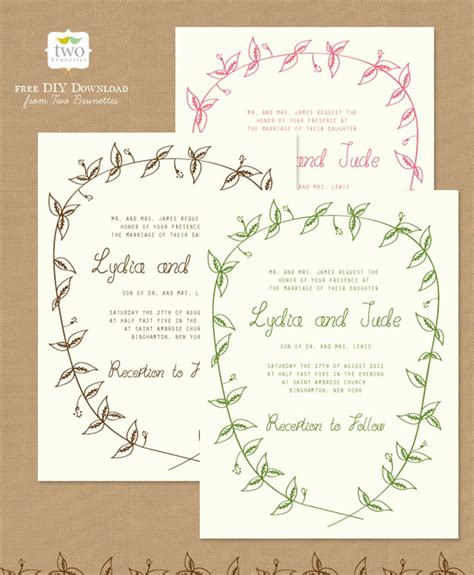 make a invitation card free 10 free printable wedding invitations diy wedding
