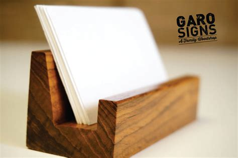 how to make a wood card holder wood office desk business card holder office accessories