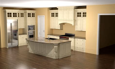 kitchen island corbels glazed kitchen with large island corbels and custom nick miller design