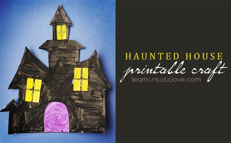 haunted house crafts for haunted house printable craft