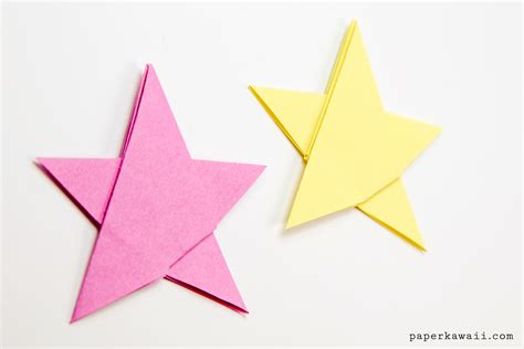 origami in simple origami 5 point tutorial 1 sheet paper kawaii