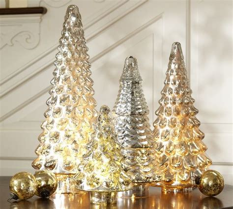 mercury glass decorations silver mercury glass tree traditional accents