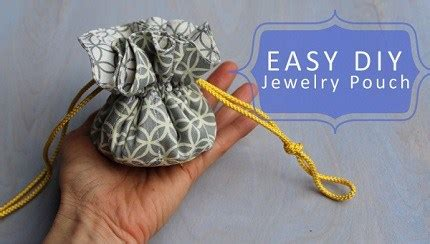 Tutorial Drawstring Jewelry Pouch Sewing